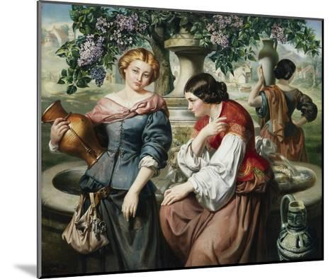 The Village Gossips-Daniel Maclise-Mounted Giclee Print