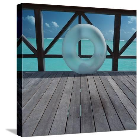 Inflatable rubber ring--Stretched Canvas Print
