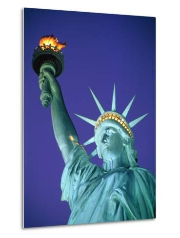 Statue of Liberty in New York City at dusk-Alan Schein-Metal Print