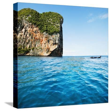 Phang-Nga Bay Island with Mountains-JoSon-Stretched Canvas Print
