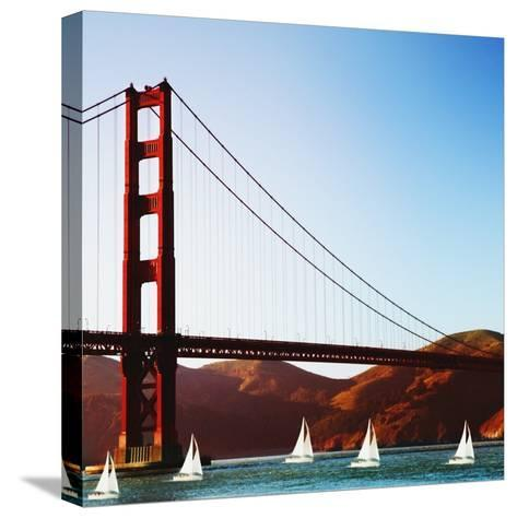 Golden Gate Bridge-JoSon-Stretched Canvas Print