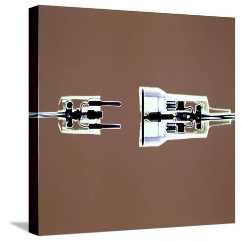 Cross-section of Electrical Plug--Stretched Canvas Print