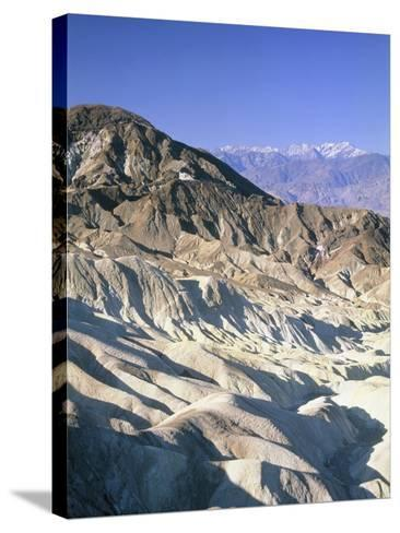 Badlands, Zabriskie Point, Death Valley, USA-Frank Lukasseck-Stretched Canvas Print