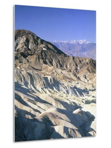 Badlands, Zabriskie Point, Death Valley, USA-Frank Lukasseck-Metal Print