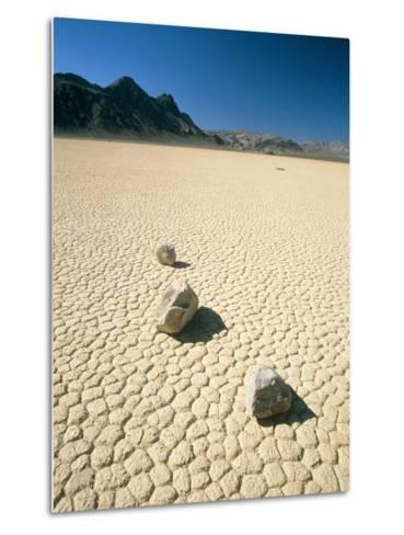 Dried clay, Death Valley, Nevada, USA-Frank Lukasseck-Metal Print