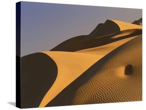 Sand dunes (Timimoun, Grand Erg, Gourara Valley, Sahara Desert, Algeria)-Frans Lemmens-Stretched Canvas Print