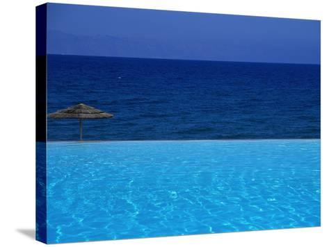 Blue of Pool, Sky and Sea--Stretched Canvas Print