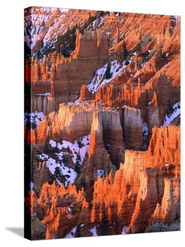 USA, Utah, Bryce Canyon with snow-Theo Allofs-Stretched Canvas Print