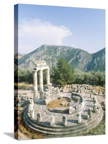 Tholos of the Athena Pronaia in Delphi, Greece-Rainer Hackenberg-Stretched Canvas Print