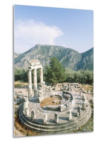 Tholos of the Athena Pronaia in Delphi, Greece-Rainer Hackenberg-Metal Print
