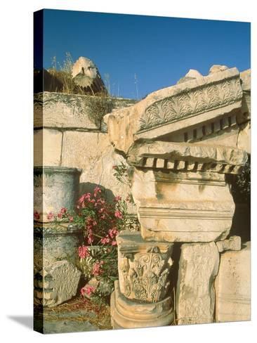 Ruins of Elefsina, Attica, Greece-Rainer Hackenberg-Stretched Canvas Print