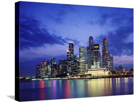 Singapore Skyline-Richard Klune-Stretched Canvas Print