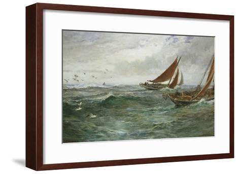 In the Track of the Trawlers-Charles Napier Hemy-Framed Art Print