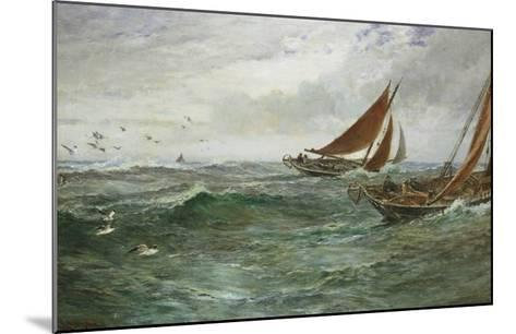 In the Track of the Trawlers-Charles Napier Hemy-Mounted Giclee Print
