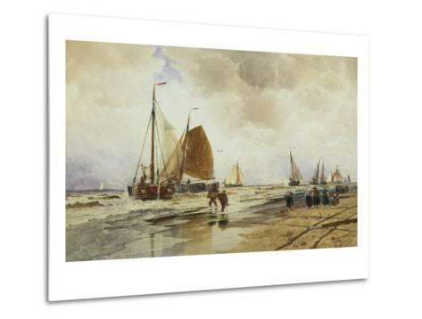 Beach at Schevingen, Holland-Thomas Hardy Bush-Metal Print
