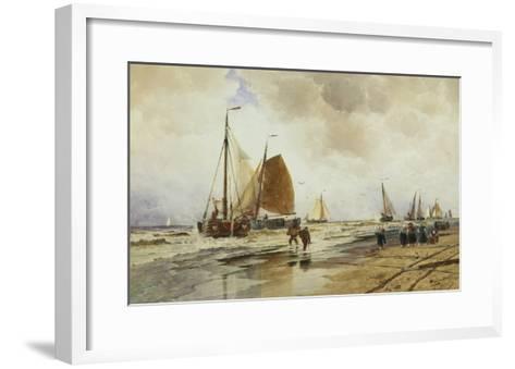 Beach at Schevingen, Holland-Thomas Hardy Bush-Framed Art Print