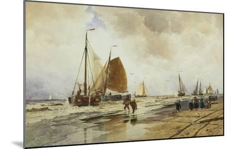Beach at Schevingen, Holland-Thomas Hardy Bush-Mounted Giclee Print