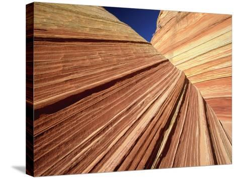Sedimentary Pattern on Rock USA-Theo Allofs-Stretched Canvas Print