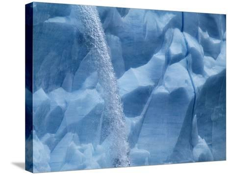 Waterfall on Glacier on Spitsbergen-Hans Strand-Stretched Canvas Print