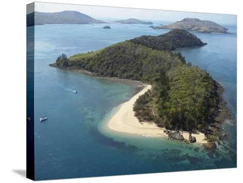 Aerial View of Offshore Islands, Queensland, Australia--Stretched Canvas Print