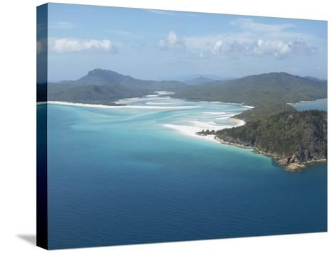 Aerial View of a Peninsula Jutting Out into the Ocean--Stretched Canvas Print