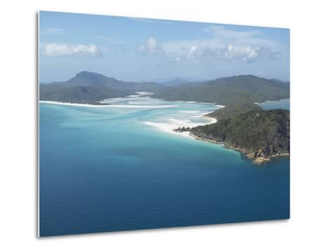 Aerial View of a Peninsula Jutting Out into the Ocean--Metal Print