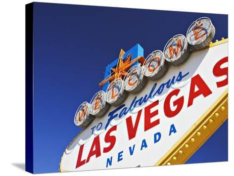 Welcome to Las Vegas Sign-William Manning-Stretched Canvas Print