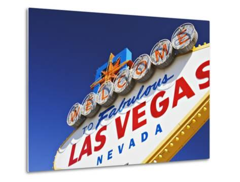 Welcome to Las Vegas Sign-William Manning-Metal Print