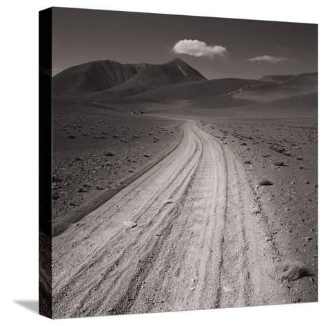 Road leading through desert setting--Stretched Canvas Print