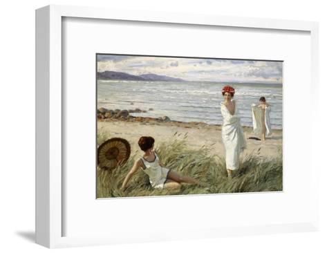 After the Swim at Hornbaek Beach, Denmark-Paul Fischer-Framed Art Print