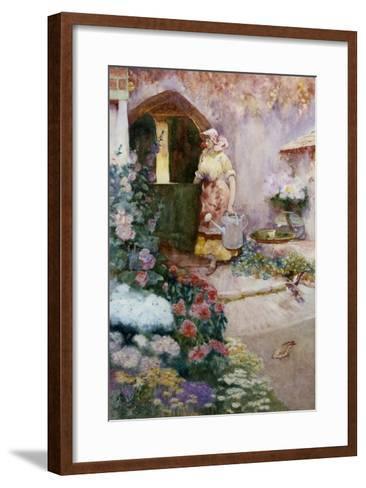 In the Garden-David Woodlock-Framed Art Print