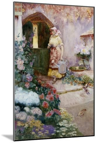In the Garden-David Woodlock-Mounted Giclee Print