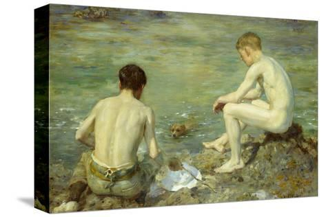 Three Companions-Henry Scott Tuke-Stretched Canvas Print