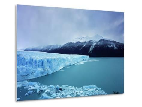 Misty Mountains Behind Glacier-Jonathan Andrew-Metal Print