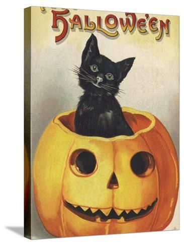 A Merry Halloween-Ellen H^ Clapsaddle-Stretched Canvas Print