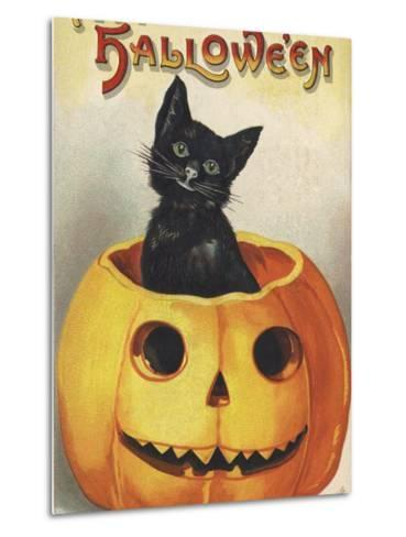 A Merry Halloween-Ellen H^ Clapsaddle-Metal Print