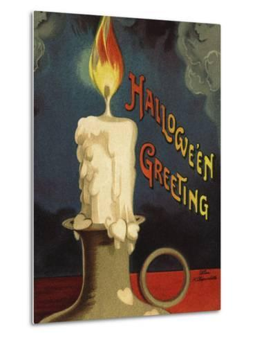 Hallowe'en Greeting-Ellen H^ Clapsaddle-Metal Print