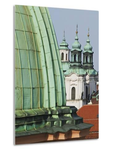 Church Dome and Bell Towers in Prague-William Manning-Metal Print
