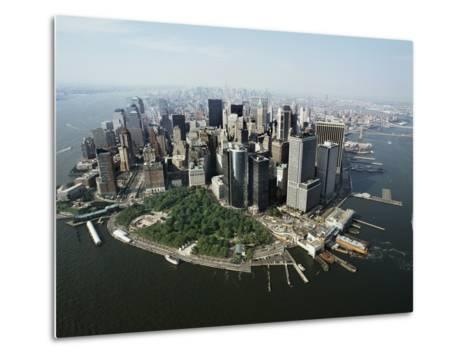 Manhattan's Financial District-David Jay Zimmerman-Metal Print