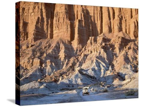 SUV Driving Through Valley of the Moon-Hubert Stadler-Stretched Canvas Print