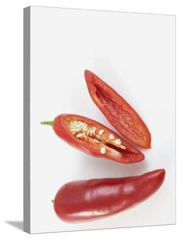 Prepared  Red Chili's--Stretched Canvas Print