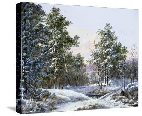 A Fine Winter's Day-Pieter Gerardus van Os-Stretched Canvas Print
