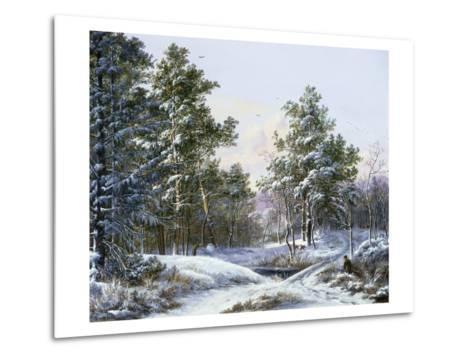 A Fine Winter's Day-Pieter Gerardus van Os-Metal Print