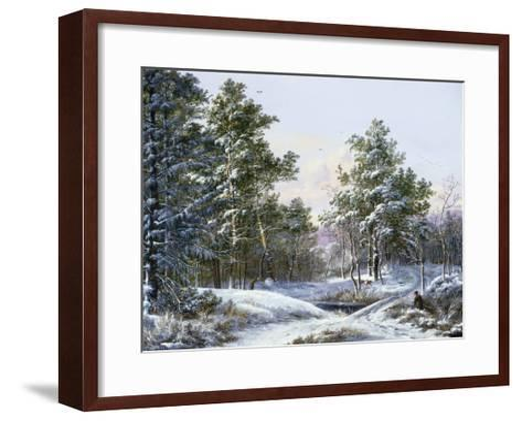 A Fine Winter's Day-Pieter Gerardus van Os-Framed Art Print