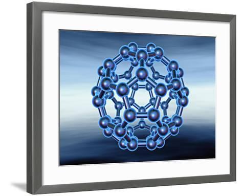 Buckyball also known as Fullerene or Buckminsterfullerene-Matthias Kulka-Framed Art Print