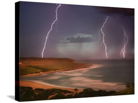 Thunderstorm Over Mdumbi Estuary-Jonathan Hicks-Stretched Canvas Print