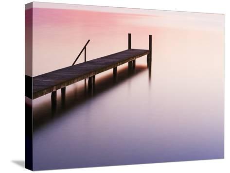 Footbridge at Lake Starnberg-Frank Krahmer-Stretched Canvas Print
