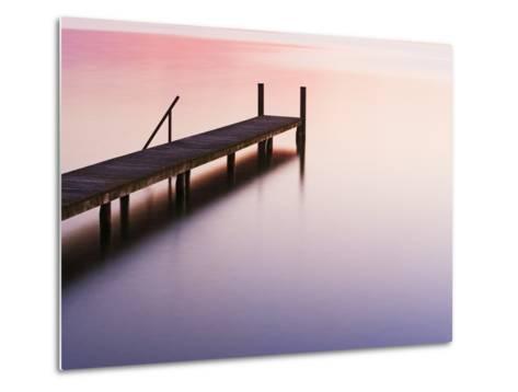 Footbridge at Lake Starnberg-Frank Krahmer-Metal Print