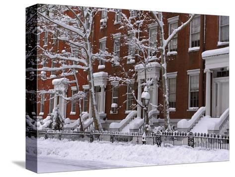 Brownstones in Blizzard-Rudy Sulgan-Stretched Canvas Print