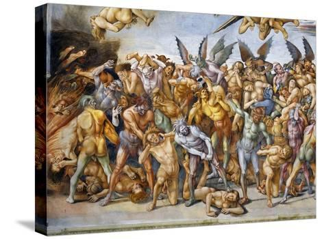 Detail of The Damned in Hell-Luca Signorelli-Stretched Canvas Print